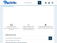 Frontpage screenshot for site: Pacific računala Varaždin (http://www.pacific-racunala.hr)