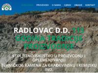 Frontpage screenshot for site: Radlovac d.d. (http://radlovac.hr)