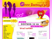 Frontpage screenshot for site: Sex Shop Fantazija (http://www.fantazija.hr)