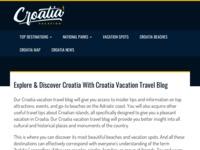 Slika naslovnice sjedišta: Hrvatski Otoci - Hrvatske Plaže - Nacionalni Parkovi (http://www.croatiavacation.co.uk)