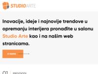 Frontpage screenshot for site: (http://www.studioarte.hr)