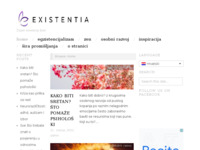 Frontpage screenshot for site: Existentia (http://existentia.com.hr)