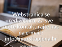 Frontpage screenshot for site: Morska Pjena (http://www.morskapjena.hr)