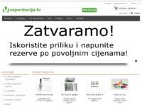 Frontpage screenshot for site: Vaporizacija - e cigarete i tekućine (http://www.vaporizacija.hr)