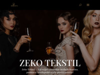 Frontpage screenshot for site: Zeko tekstil (http://www.zekotekstil.hr)