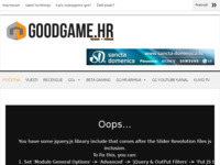 Frontpage screenshot for site: GoodGame.hr (http://www.goodgame.hr)