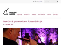 Frontpage screenshot for site: Damjan Grbac (http://damjangrbac.com)