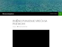 Slika naslovnice sjedišta: Obrana od poplava - Inovativne metode zaštite od poplava (http://obranaodpoplava.wordpress.com/)