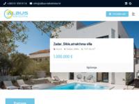 Frontpage screenshot for site: Albus d.o.o., Zadar - agencija za posredovanje nekretninama (http://www.albus-nekretnine.hr)