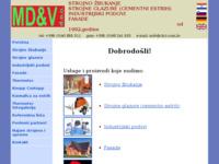 Frontpage screenshot for site: Strojno žbukanje i strojne glazure MD&V d.o.o (http://www.mdv.hr)