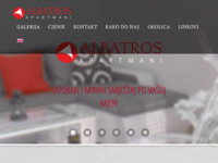 Frontpage screenshot for site: Albatros Apartmani - Zagreb (http://albatros-apartmani.com.hr/)