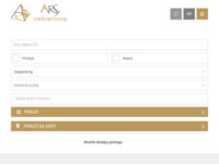 Frontpage screenshot for site: Nekretnine ARS (http://www.ars-nekretnine.hr)