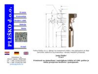 Frontpage screenshot for site: Plesko d.o.o. (http://www.plesko.hr)