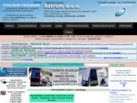Slika naslovnice sjedišta: Astrum - Poduzece za razvoj software-a i informaticke usluge (http://astrum.hr)