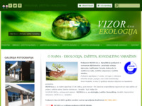 Frontpage screenshot for site: Ekologija, zaštita i konzalting (http://www.vizor.hr)