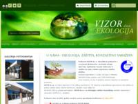 Slika naslovnice sjedišta: Ekologija, zaštita i konzalting (http://www.vizor.hr)