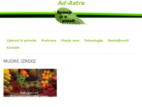 Slika naslovnice sjedišta: Rješenje je u prirodi (http://www.ad-astra.com.hr)
