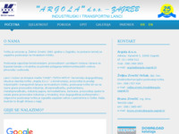 Frontpage screenshot for site: Argola d.o.o. Zagreb (http://www.argola-zagreb.hr)
