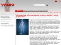 Slika naslovnice sjedišta: Kiropraktika Valeo (http://www.kiropraktika-valeo.hr)