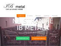 Frontpage screenshot for site: IB Metal (http://www.ibmetal.hr)