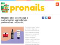 Frontpage screenshot for site: Pronails nokteraj Zagreb (http://www.pronails.hr)