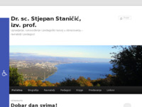 Frontpage screenshot for site: Dr. sc. Stjepan Staničić, izv. prof. (http://stjepan-stanicic.from.hr/)