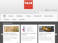 Slika naslovnice sjedišta: Task d.o.o. informacijski sustavi Varaždin (http://www.task.hr)