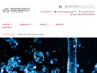 Slika naslovnice sjedišta: Narodni zdravstveni list (http://www.zzjzpgz.hr/nzl/nzl.htm)
