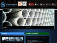 Frontpage screenshot for site: Sectura d.o.o. (http://www.sectura.hr/)