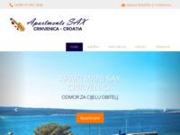 Slika naslovnice sjedišta: Apartmani Sax, Crikvenica (http://www.crikvenicaapartmentssax.com)