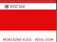 Frontpage screenshot for site: Montažne kuće Intal Dom (http://intaldom.hr)