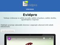 Slika naslovnice sjedišta: Evidpro (http://evidpro.hr)