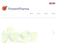 Frontpage screenshot for site: ProventPharma (http://www.proventpharma.hr/)