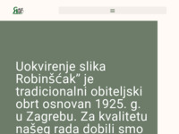 Frontpage screenshot for site: Uokvirenje slika Robinščak (http://www.robinscak.com)