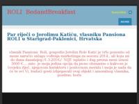 Frontpage screenshot for site: Pansion i restoran Roli u Starigrad-Paklenici (http://pansionroli.weebly.com)