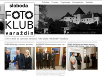 Frontpage screenshot for site: (http://fotoklub-sloboda.hr)