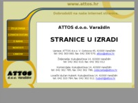 Frontpage screenshot for site: Attos d.o.o. Varaždin (http://www.attos.hr/)