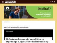 Slika naslovnice sjedišta: Internet portal - grad Vinkovci (http://vinkovci.com.hr/)