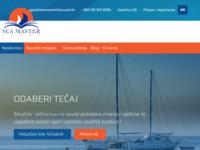 Frontpage screenshot for site: Tečajevi za voditelja brodice - Seamaster Class (http://www.seamasterclass.com.hr)