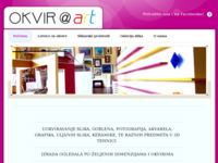 Frontpage screenshot for site: Okvir@art - Okviri za slike Pula (http://okvirart.hr)