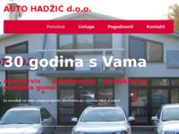 Slika naslovnice sjedišta: Auto Hadžić d.o.o. (http://www.autohadzic.hr)