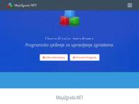 Frontpage screenshot for site: MojaZgrada.NET - Program za upravljanje Zgradama i Objektima (http://mojazgrada.eu/)