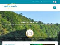 Frontpage screenshot for site: Nerida Oasis Muslim Travel Agency Croatia (http://nerida-oasis.com/)