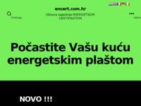 Frontpage screenshot for site: Energetsko certificiranje (http://www.encert.com.hr)