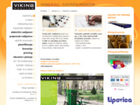 Frontpage screenshot for site: Viking - grijanje (http://www.viking.hr)