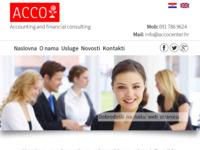 Slika naslovnice sjedišta: Računovodstvo i financijsko savjetovanje - ACCO centar (http://accocentar.hr)