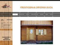 Frontpage screenshot for site: Hiže Rukavina - drvene kuće (http://hize-rukavina.hr)