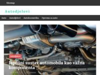 Slika naslovnice sjedišta: Autodjelovi - kakovost na jednom mjestu (http://autodjelovi.com.hr/)