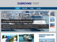 Frontpage screenshot for site: Luka Dubrovnik (http://dubrovnik-port.com)