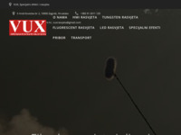 Frontpage screenshot for site: VUX – specijalni efekti i rasvjeta (http://vux-rasvjeta.hr)